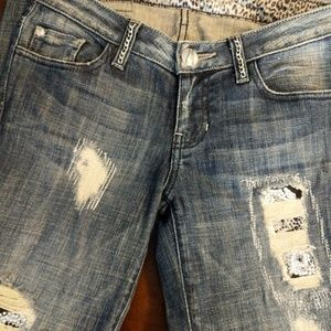 Marciano Distressed jeans with rhinestones